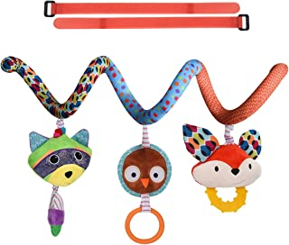 HAHA Baby Car Seat Toys, Infant Boy Girl Stroller Hanging Teething Rattle Learning Spiral Toy Newborn Soft Crib Play Gym T...