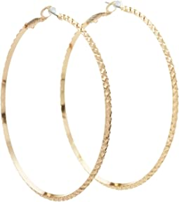 GUESS - Diamond Cut Hoop Earring