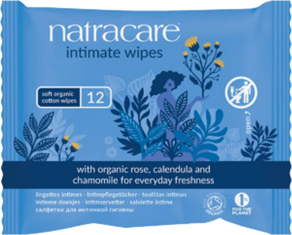 Natracare Organic Cotton Intimate Wipes Max 85% OFF 12 Inventory cleanup selling sale Count