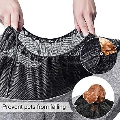 aofook Adjustable Dog Pet Sling Waterproof Carrier Bag with Soft Shoulder Pad Zippered Pocket for Outdoor Travel (Grey, Adjustment) 3