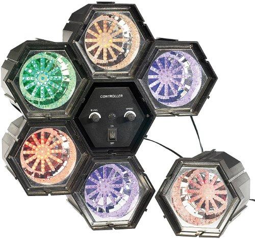 Lunartec Lichterorgel: 6-Kanal Lichtorgel mit 282 LEDs mit Klang-Steuerung (LED Lichtorgel musikgesteuert)
