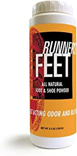 Palm Beach Naturals Runner's Feet All Natural Foot & Shoe Powder. 3.5 Ounces Anti-Bacterial Odor Eliminator. Made in USA.