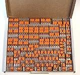 Wago 221, set dimorsetti 25x 221-412, 221-413, 221-415 | connettore per cavo in scatola richiudibile Box–originale WAGO
