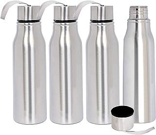 Kuber Industries Stainless Steel 4 Pieces Fridge/Sports Water Bottle/Refrigerator Bottle/Thunder, 1000 ML (Sliver) - CTKTC...