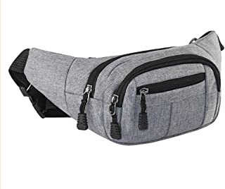 SportsWell Fanny Pack for Men and Women, Large Capacity of 4 Zippered Compartments, Sports Waist Pack Bag with Adjustable Strap