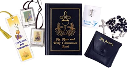 My First Holy Communion Boy Gift Set with Prayer Book, Rosary, Scapular, Lapel Pin, and Bookmark