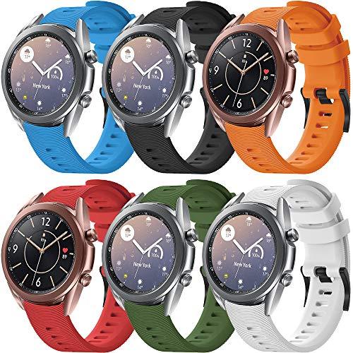 Yaspark Cinturino Vivoactive 3 Vivomove HR Forerunner 245 645 Galaxy Watch Active 2 40mm 44mm Active Galaxy Watch 42mm Gear S2 Classic Gear Sport, 20mm Cinturino di Ricambio Silicone Braccialetto