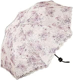 YQRYP Umbrella Sun Umbrella Umbrella Double Lace Umbrella Rain Dual-use Umbrella Sun Protection Umbrella UV Umbrella Folding Umbrella Windproof Umbrella, Golf Umbrella (Color : Purple)