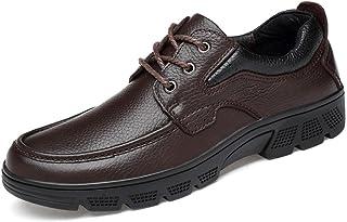 CAIFENG Moda para Hombres Oxford Casual Suave Suave ASEISMATICA Suela de cinturón de luz Zapatos Formales (Velvet cálido O...