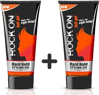 Rockon Hard Hold Hair Gel (60 g) - Pack of 2