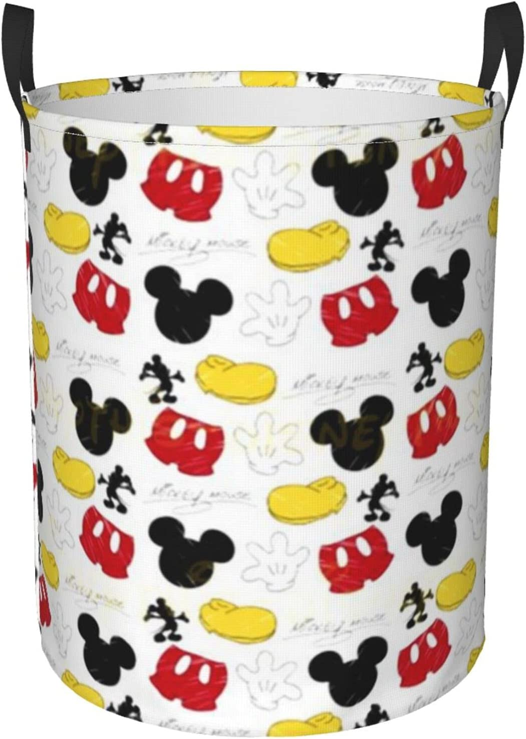 Round Laundry Hamper Dirty Clothes Basket Waterproof Handles Por High Department store quality