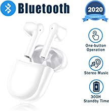 Wireless Earbuds Bluetooth Earbuds 3D Stereo Headphones?24H Fast Charging Case IPX7 Waterproof Sports Headphones Built in Mic in Ear Earbuds Noise Cancelling Headsets for iPhone/Android Airpods Apple