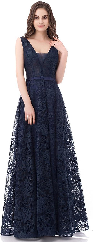 Evening Dress Bridesmaid Dresses Double VNeck Lace Strap Prom Dresses Wedding Guest Dresses