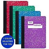Composizione Notebook 9-3/4 'X 7-1/2' 100 fogli/Pad-Wide governato copertine di marmo bianco-assortiti