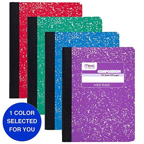 Mead Kompositionsbuch, breit liniert, Notizbuch mit liniertem Papier, Schulbedarf für Studenten und K-12, 24,1 x 19,1 cm, schwarzer Marmor Pack of 1 Adidas Sportschuhe mit Stollen