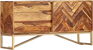 vidaXL - Aparador de madera maciza de palisandro con 3 cajones y 1 puerta armario auxiliar multiusos 118 x 30 x 60 cm