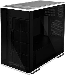 SilverStone SST-LD01B - Lucid Mini Torre Micro ATX, Rendimiento silencioso con alto flujo de aire, cristal templado x3