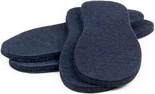 The Felt Store Mens Insoles Blue, 2 Pack, Size 7