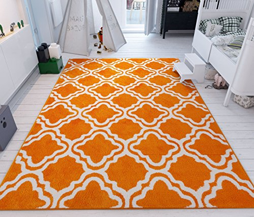 Calipso Orange 3'3''X5' Lattice Trellis Area Rug