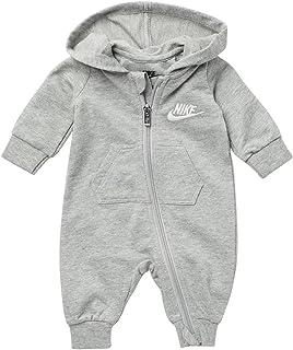 Baby Boys Hooded Jumpsuit - Dark Grey