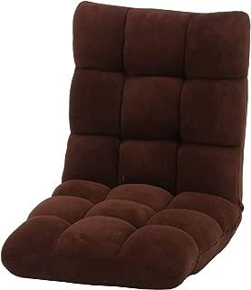 不二貿易 座椅子 幅42cm ブラウン 42段階調整 軽量 ふわもこ 38146