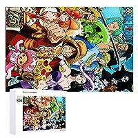 ワンピース シリーズ高品質木製アニメジグソーパズル子供たちへのプレゼント手作りジグソーパズル 1000 PCS