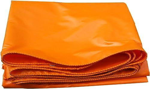 LPYMX Refuge de Camping Bache, bache de Pique-Nique imperméable à l'eau de bache d'Orange, Toile de Lin imperméable à l'eau d'auvent imperméable de Toile de Lin (Couleur   A, Taille   3 x 5m)