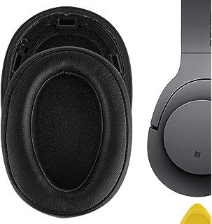 Geekria QuickFit Proteïne Lederen Vervanging Oorkussens voor Sony MDR-100ABN WH-H900N Hoofdtelefoon Oorkussens, Headset Oo...