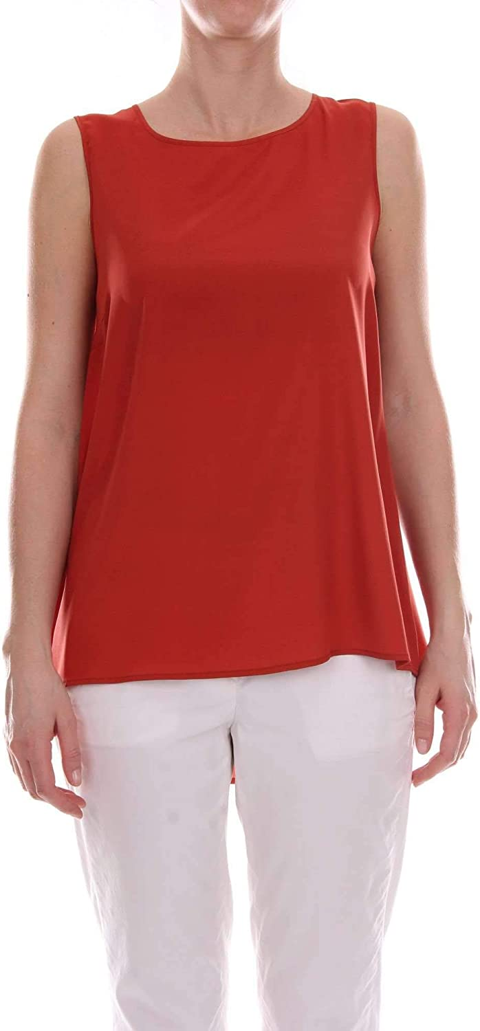 Le Tricot Perugia Women's 662507152RED Red Silk Top