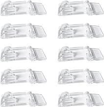INCREWAY Acryl scharnier scharnier,10 stuks 25 * 55 mm Crystal Clear Mini scharnier vergrendeling Hasp Lock,Transparante k...