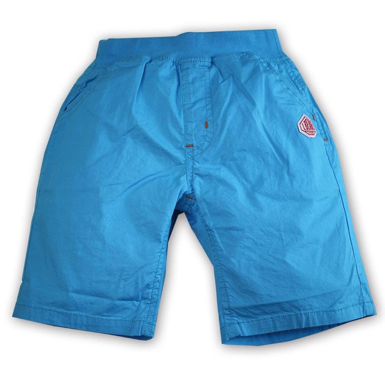 ストレッチ 布帛 ショートパンツ ハーフパンツ 35156 (100, ブルー)