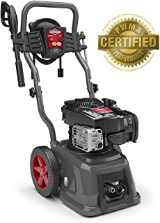 Briggs & Stratton Gas Pressure Washer 2800 PSI 2.1 GPM with 25'High-Pressure Hose, 4 Nozzles & Detergent Injection