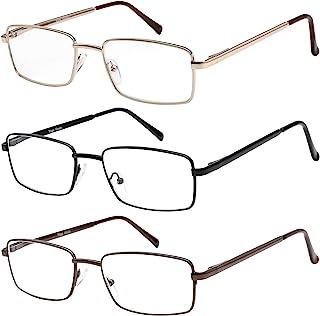 Reading Glasses Set of 3 Metal Full Rim Glasses for reading for Men and Women