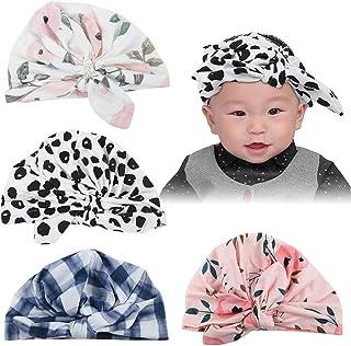 Children Knotted Hat, 4PCS Soft Baby Toddler Hat Fashionable Comfortable Cap for Children Kid Infant Photo Props(4PCS)