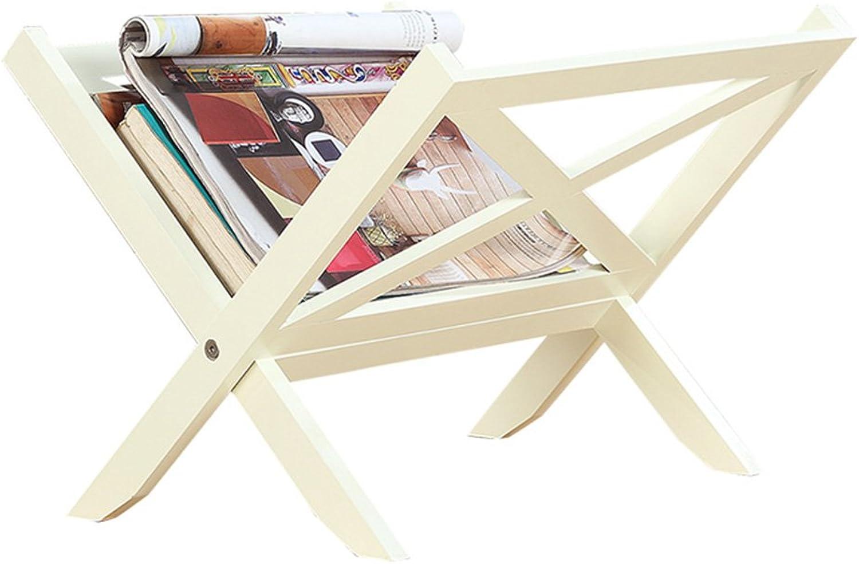 Wall Decoration Simple Table Shelf, Shelf Finishing Storage Rack Mini Folding Bookshelf (color   White)