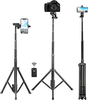 Selfie Stick Tripod, Eocean 54 inch Extendable Phone Tripod Stand,Universal Tripod with Wireless Remote,Portable Travel Ca...