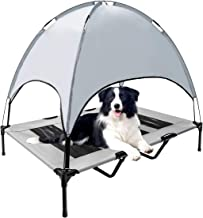 WiseWater Dog Bed with Removable Canopy, X Large Elevated Pet Cot, Durable Pet Bed with Travel Bag, Portable for Camping, ...