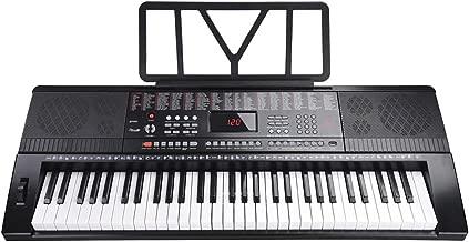 AW 61 Key Full Size Electronic Music Keyboard Electric Piano LCD Display USB Input MP3 Black
