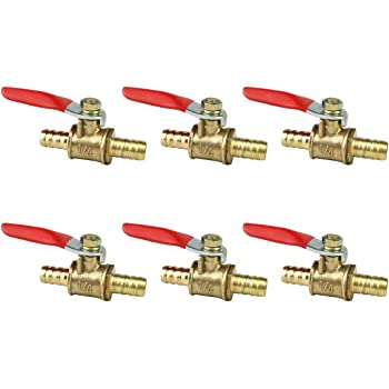 3pcs 8mm to 10mm Barb End Plastic Ball Valve Close Tap Handle Water Irrigation
