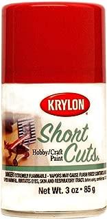 Krylon KSCS033 Short Cuts Aerosol Spray Paint, 3-Ounce, Red Pepper