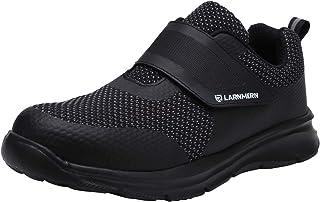 LARNMERN Chaussure de Securité Homme Femme,S1/SBP SRC Réfléchissant Legere Chaussure Respirant Basket Securité Embout Acie...