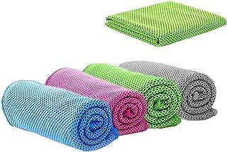 4 Delige Koelhanddoek, Sporthanddoek, Microvezelhanddoek voor Onmiddellijke Verkoeling, Koele Koude Handdoek voor Yoga, Go...