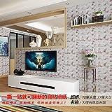 ZRDMN Etiqueta de la pared Extra gruesa Azulejos de pared en 3D Creativo a prueba de agua, Marmol Pollo Sangre Piedra Dama 70Cm * 77Cm, King Can Remove Art Murals Para el dormitorio