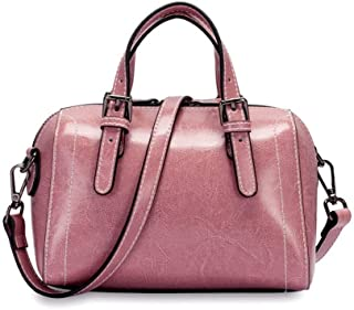 Runhuayou New Fashion Unsubdivided and Various Compact Bills Shoulder Slung Leather Handbags Great for Casual or Many Other Occasions Such (Color : Pink)