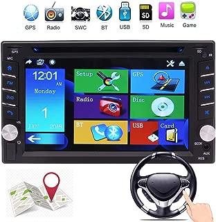 EinCar Double 2 Din in Dash Car DVD Player Car Stereo GPS Navigation Autoradio Bluetooth Car Radio 6.2 inch Touchscreen Support SWC USB SD MP3 FM AM RDS AUX in Video Head Unit Rear Camera Input
