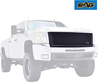 EAG Replacement Grille Black Stainless Steel Wire Mesh with ABS Shell Fit for 07-10 Chevy SilveradoHD