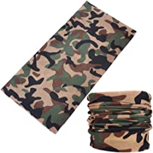 12 Pack Bandana Face Mask Cute Floral Camo Printed Seamless Neck Gaiter Scarf for Men Women