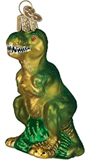 Old World Christmas Ornaments: T-Rex Glass Blown Ornaments for Christmas Tree