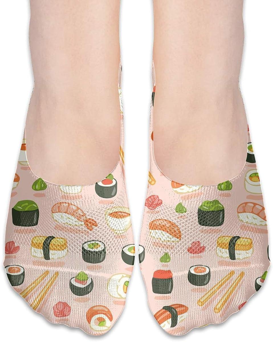 No Show Socks Women Men For Sushi And Rolls Flats Cotton Ultra Low Cut Liner Socks Non Slip