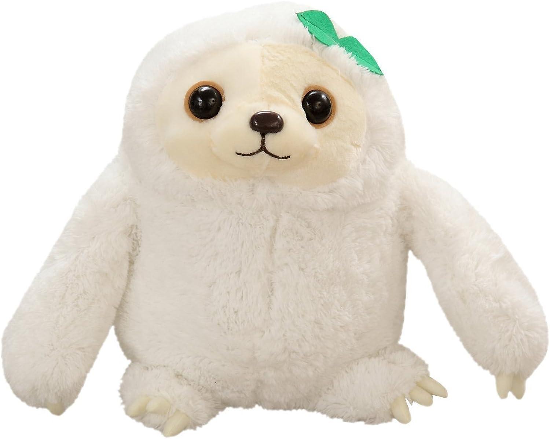 YunNasi Baby Sloth Stuffed Toy Animal Fluffy Cute Plush Baby Sloth (27.5 inch, White)